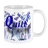 Quilt Blue Coffee Mug