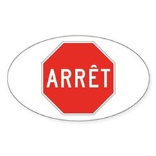 Stop, Quebec (CA) Oval Decal