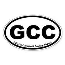 Gillette-Cambell County Airport Oval Decal