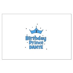 Dante 1st Birthday Prince! Large Poster