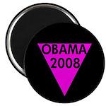 Pink Triangle Obama 2008 Magnet