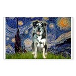 Starry / Catahoula Leopard Dog Sticker (Rectangle)