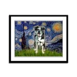 Starry / Catahoula Leopard Dog Framed Panel Print