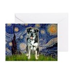Starry / Catahoula Leopard Dog Greeting Cards (Pk
