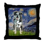 Starry / Catahoula Leopard Dog Throw Pillow