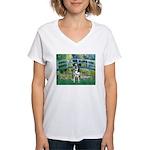 Bridge / Catahoula Leopard Dog Women's V-Neck T-Sh