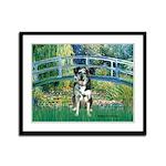 Bridge / Catahoula Leopard Dog Framed Panel Print