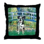 Bridge / Catahoula Leopard Dog Throw Pillow