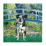 Bridge / Catahoula Leopard Dog Tile Coaster