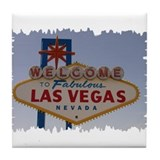 Las Vegas Sign Tile Coaster