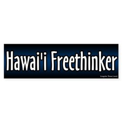 Hawaii Freethinker Bumper Sticker