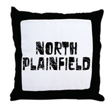 North Plainf.. Faded (Black) Throw Pillow