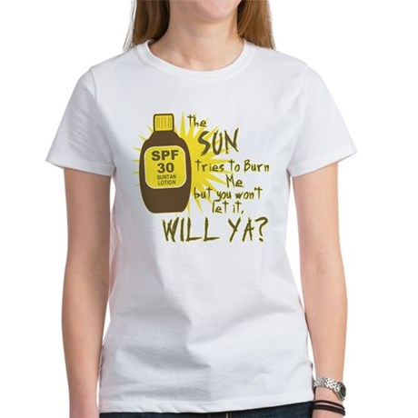 The Sun Tries to Burn Me Womens T-Shirt