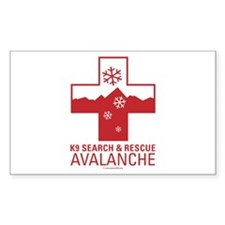 K9 Crosses - Avalanche Rectangle Decal