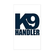 Navy K9 Handler Rectangle Decal