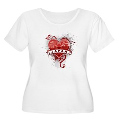 Heart Japan Women's Plus Size Scoop Neck T-Shirt