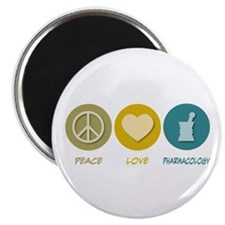 "Peace Love Pharmacology 2.25"" Magnet (10 pack"