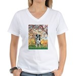 Spring / Catahoula Leopard Dog Women's V-Neck T-Sh