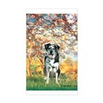 Spring / Catahoula Leopard Dog Sticker (Rectangle)
