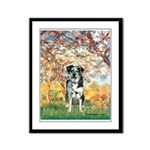 Spring / Catahoula Leopard Dog Framed Panel Print