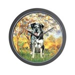 Spring / Catahoula Leopard Dog Wall Clock