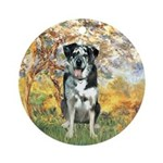 Spring / Catahoula Leopard Dog Ornament (Round)