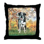 Spring / Catahoula Leopard Dog Throw Pillow