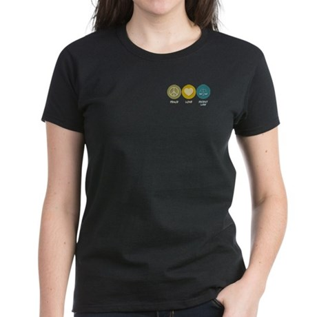 Peace Love Patent Law Women's Dark T-Shirt