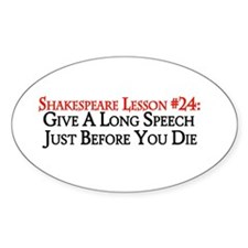 Give A Long Speech Oval Decal