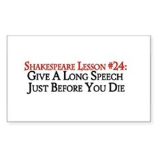 Give A Long Speech Rectangle Sticker 50 pk)