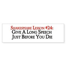 Give A Long Speech Bumper Sticker (50 pk)