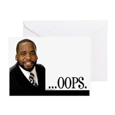 OOPS Kwame Kilpatrick Greeting Cards (Pk of 10)