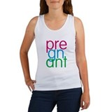 Pregnant in mixed colors Women's Tank Top