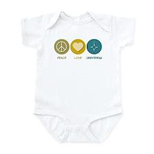 Peace Love Orienteering Infant Bodysuit