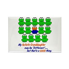 Different FROGS 1 (Granddaughter) Rectangle Magnet