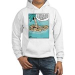 Cat on Deserted Island Hooded Sweatshirt