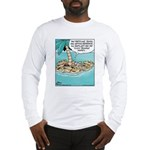 Cat on Deserted Island Long Sleeve T-Shirt