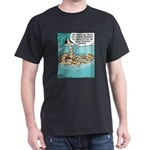 Cat on Deserted Island Dark T-Shirt