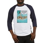 Cat on Deserted Island Baseball Jersey