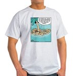 Cat on Deserted Island Light T-Shirt