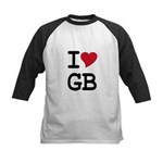 Great Britain Heart Kids Baseball Jersey