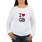Great Britain Heart Women's Long Sleeve T-Shirt