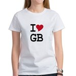 Great Britain Heart Women's T-Shirt