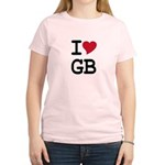 Great Britain Heart Women's Light T-Shirt