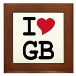 Great Britain Heart Framed Tile