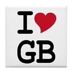 Great Britain Heart Tile Coaster