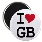 "Great Britain Heart 2.25"" Magnet (100 pack)"