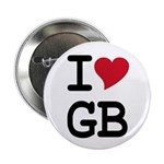 "Great Britain Heart 2.25"" Button"