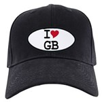 Great Britain Heart Black Cap