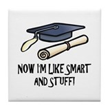 Smart Funny Grad Tile Coaster